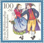 Costumed dancing couple Oberndorf