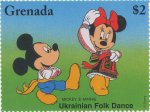 Disney dancers, Mickey, Minnie Ukrainian folk dance