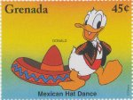 Disney dancers, Donald, Mexican dance