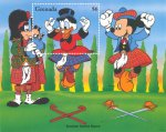 Disney dancers, Scrooge McDuck, Scottish sword dance