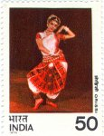 Pose from the Orissi Indian classical dance form, Orissi, or Odissi, from the Orissa region of eastern India.