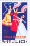 "Three dancers. ""April Spring"" Festival poster."