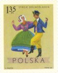 Dancing couples from Lower Silesia, Wroslaw area