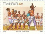 Dance group of the Xhosa tribe